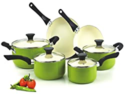 Cook N Home NC-00358 Nonstick Ceramic Coating 10-Piece Cookware