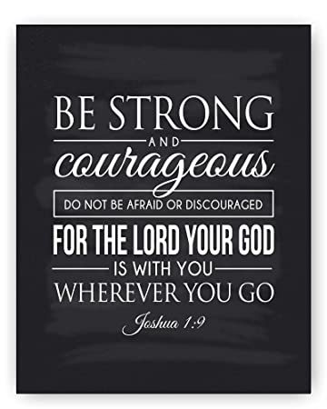 Bible Quote Classy Amazon Christian Art Be Strong And Courageous Joshua 4848