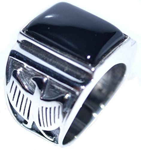 f675e530fa10 Mens Solid Sterling 925 Silver Black Onyx Gents Signet Ring