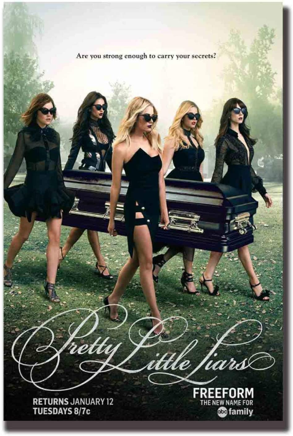 5Tdfc Pretty Little Liars Tv Series Art Poster Home Wall Decor Canvas Living Room Decoration-20X30 in No Frame