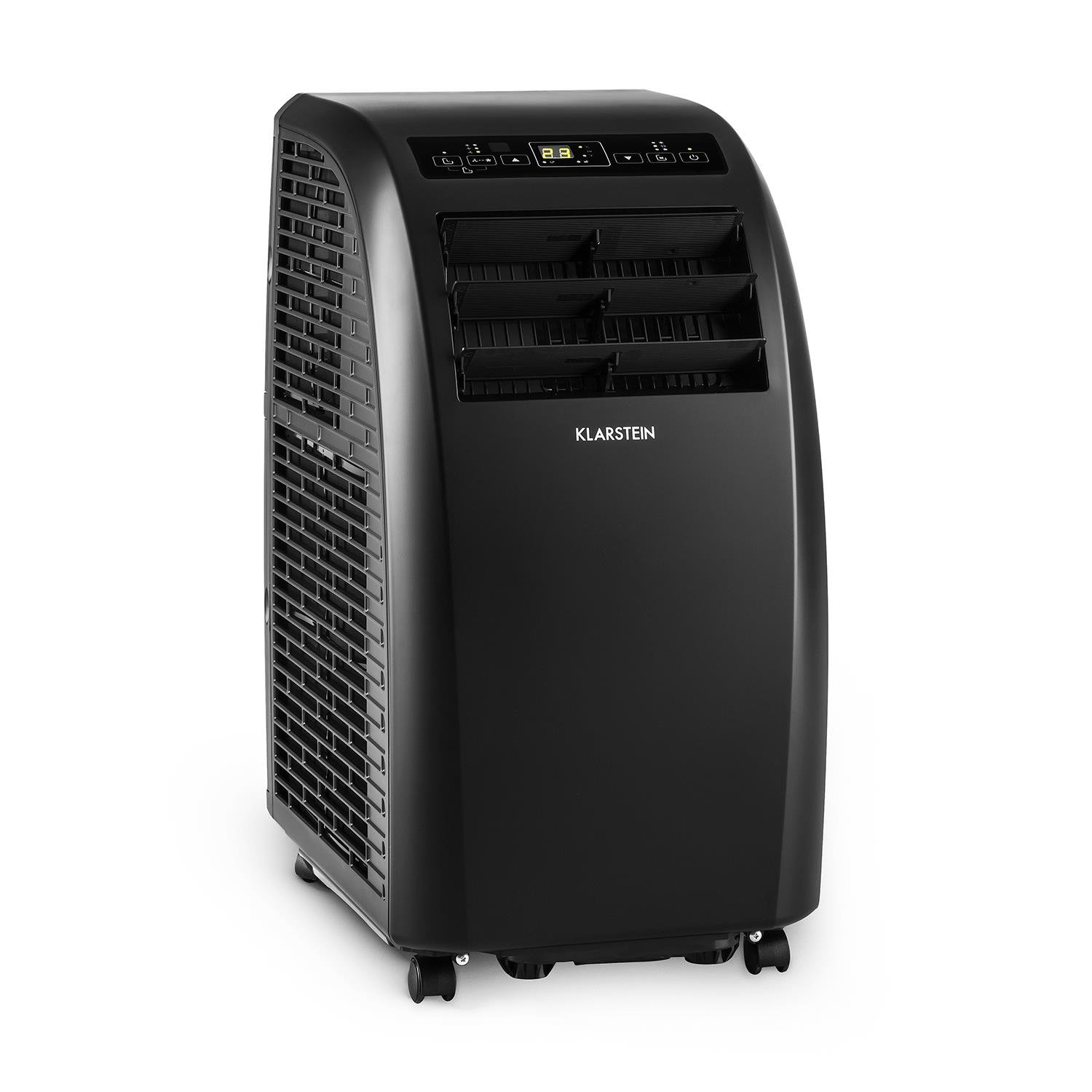 Klarstein Metrobreeze Rome • Air Conditioner • Cooling • Fan • Dehumidifier • 10.000 BTU • A+ • Temperatures 18-30 ° C • 3-Stage Fan • 3 Modes • 2 Timer • Remote • Black
