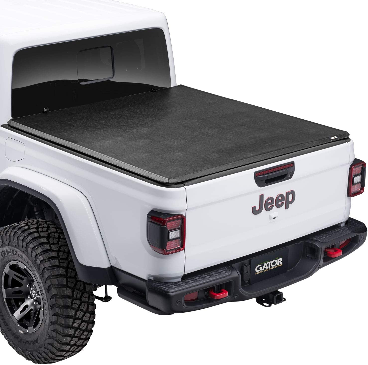 Amazon Com Gator Etx Soft Tri Fold Truck Bed Tonneau Cover 59701 Fits 2020 Jeep Gladiator Jt W O Track Rail 5 Bed Made In The Usa Automotive