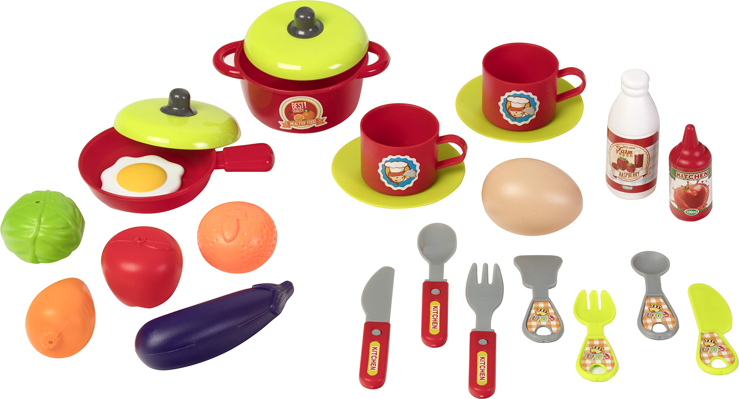 Kitchen Cook Grill Boys Playset Oven Stove, Vegetables, Pots & Pans, Cups, Utensils w/ Compact Carry Case by Kitchen Cook (Image #5)