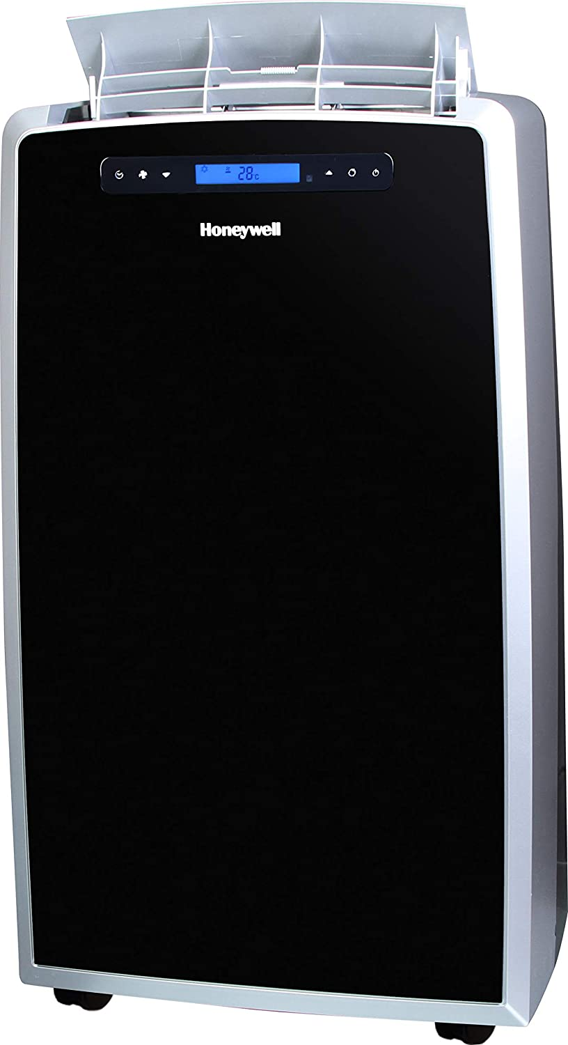 Honeywell Black/Silver MM14CCS Portable Air Conditioner with Fan & Dehumidifier with Thermal Overload Protection, 14000 BTU