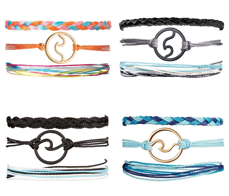 WAINIS 12 Pieces Rice Beaded Summer Beach Strand Bracelet Set Handmade Adjustable Friendship Bracelet Handcrafted Jewelry for Women Girl by WAINIS
