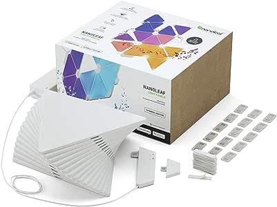 Nanoleaf Rhythm Smarter Kit Modular Snap Together Decorative Light Panels 15 Pk