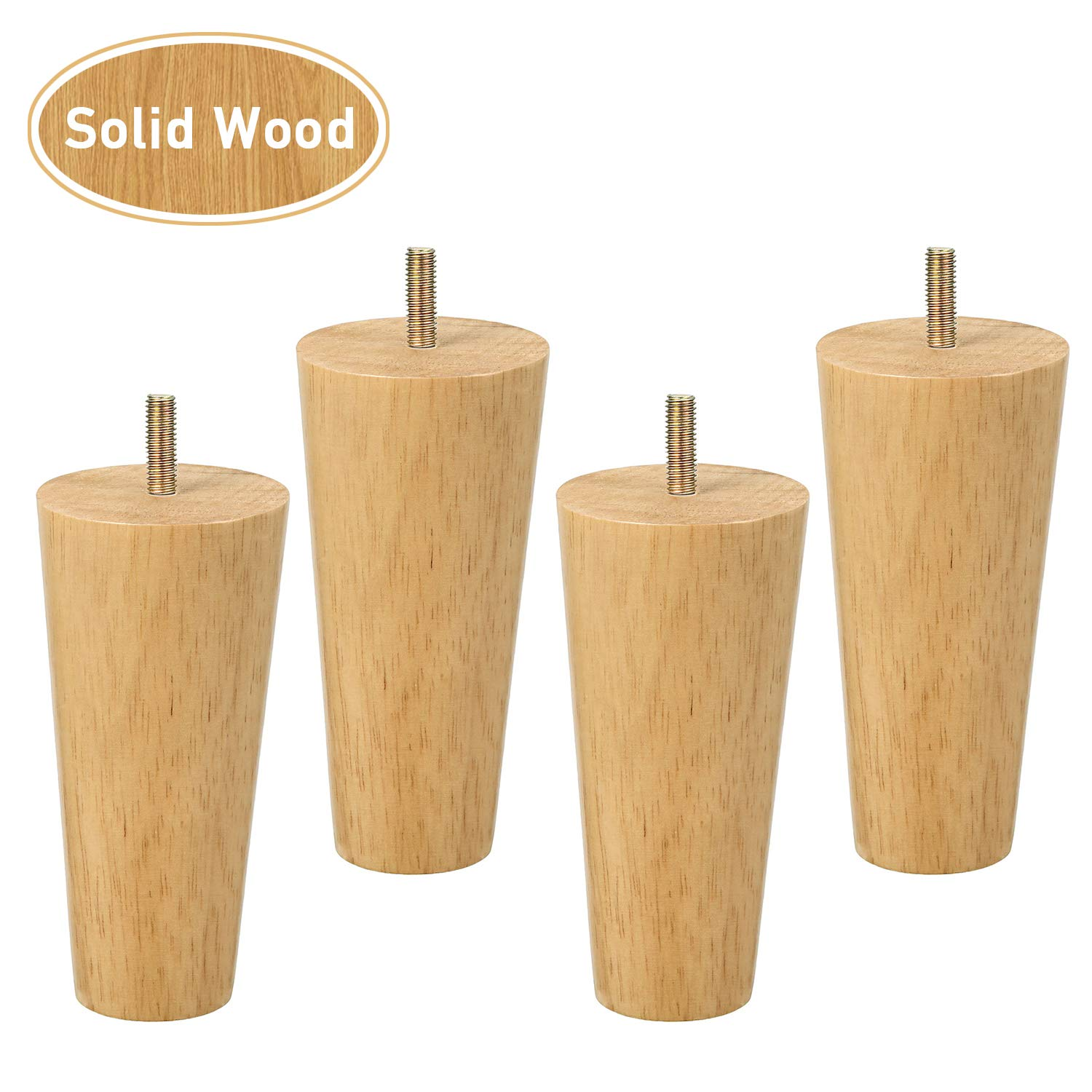 One Sight Dresser Legs Wood Furniture Legs Sofa Legs, 5 inch Mid Century  Sofa Legs for Armchair,Cabinet, Couch, Set of 4
