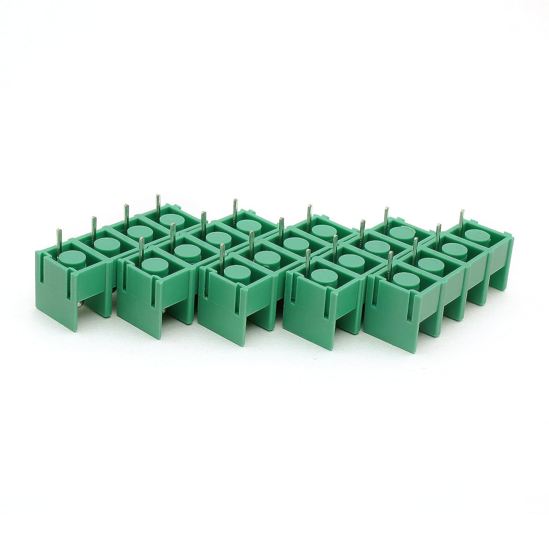 10 Suyep 4Pin Schraubklemmenleiste Stecker 300 V 20A 8,5mm KF8500-8.5-4P Gr/ün Kupfer