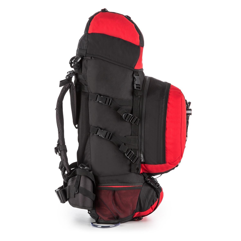 Sac /à dos de randonn/ée et trekking grande contenance de 80L avec Daypack de 10L amovible 40x80x35cm, prot/ège pluie inclus, dos renforc/é Yukatana Almer