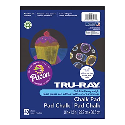 "Tru-Ray Chalk Pad, Black, 9"" x 12"", 40 Sheets : Office Products"
