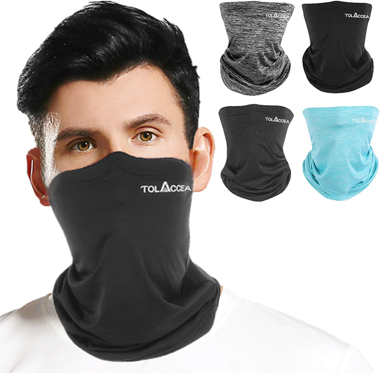 2 Pk Face Mask Neck Gaiter UV Protection Bandana Scarf Cover Head Wrist Band