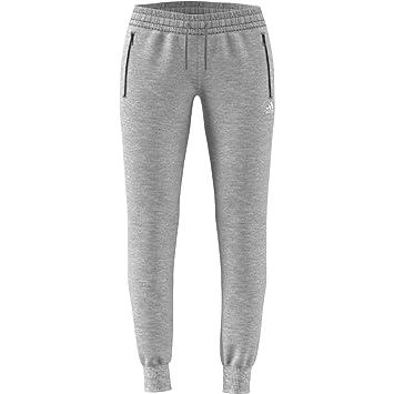 32f49728 adidas Women's Sports ID S Jogger Trousers, Medium Grey Heather/White, ...