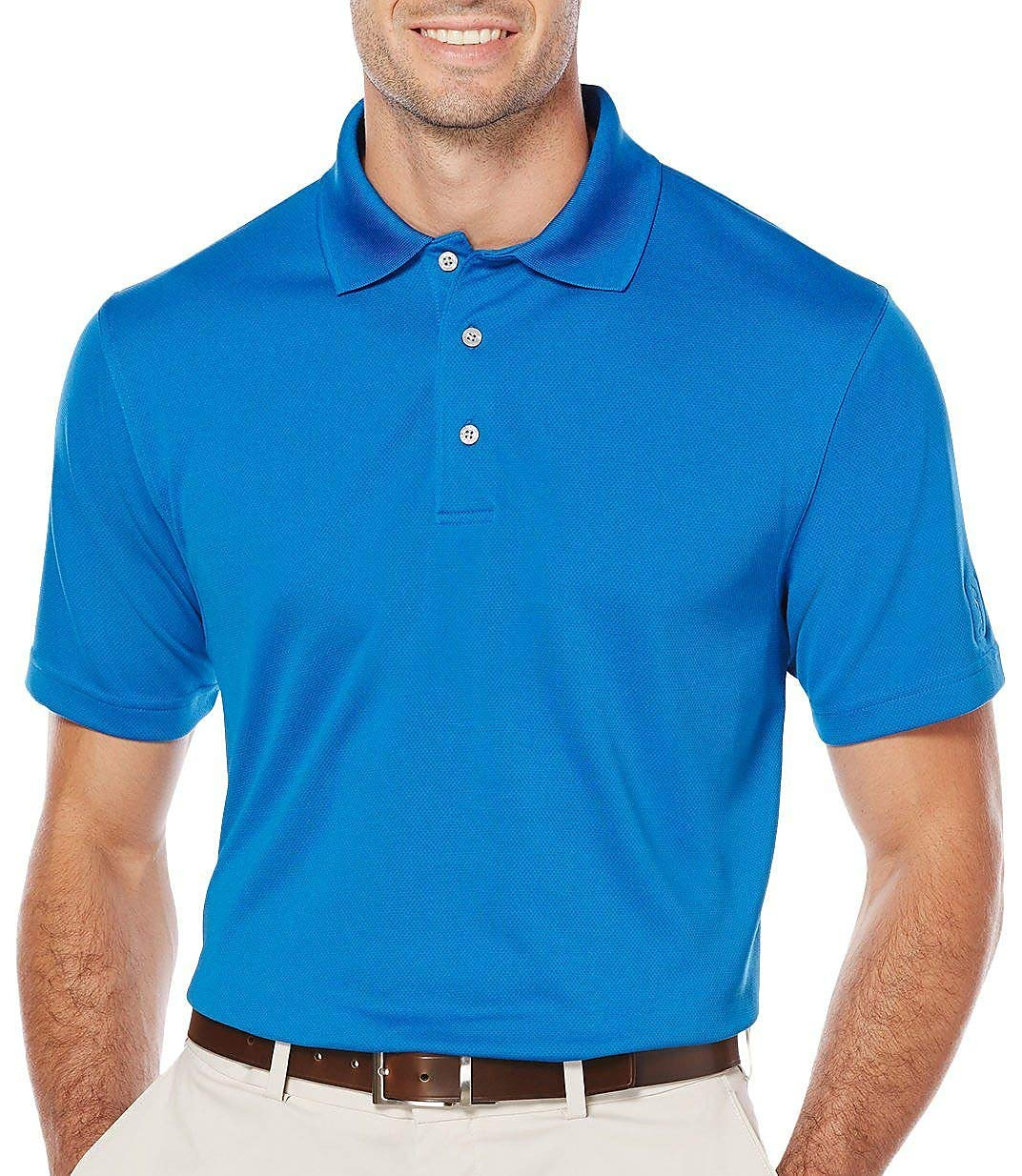 PGA TOUR Mens Airflux Solid Polo Shirt Small Classicl Blue
