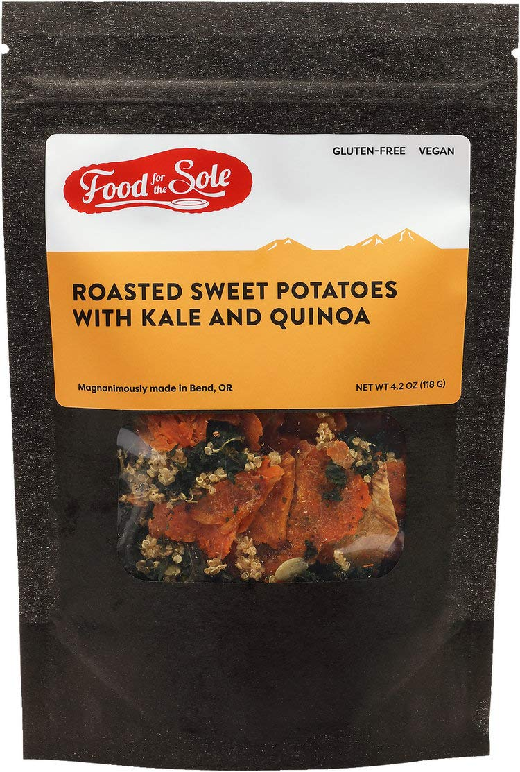 Food For The Sole Roasted Sweet Potatoes with Kale and Quinoa Dehydrated Backpacking Meal