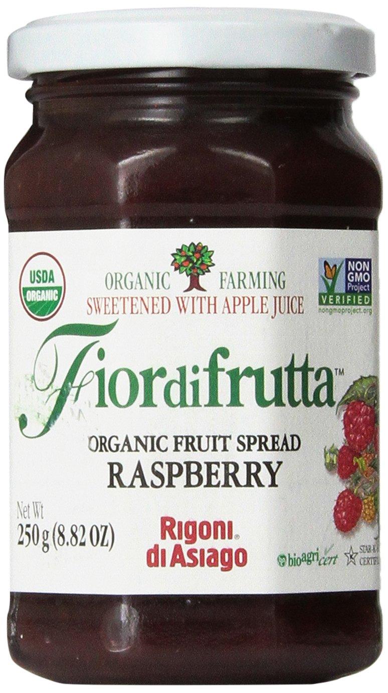 Rigoni Di Asiago Fiordifrutta Organic Fruit Spread, Raspberry, 8.82 Ounce