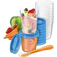 Philips Avent SCF721/20 Bewaarbekers Voor Babyvoeding, Met Lekvrij Deksel, Makkelijk Mee Te Nemen, Stapelbaar - BPA-Vrij…