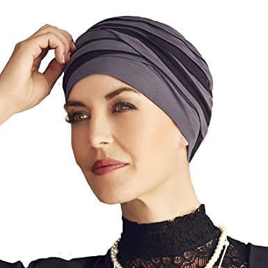 livraison gratuite 78576 80205 Christine Headwear Bonnet en Bambou Shanti Noir et Bleu pour Traitement de  Chimiothérapie