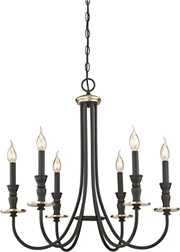 Westinghouse Lighting 6325200 Cresting Six-Light Indoor Chandelier