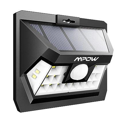Mpow 18 LED Sensor de Movimiento Luz Solar, Panel Solar de Alta Eficiencia, Ángulo