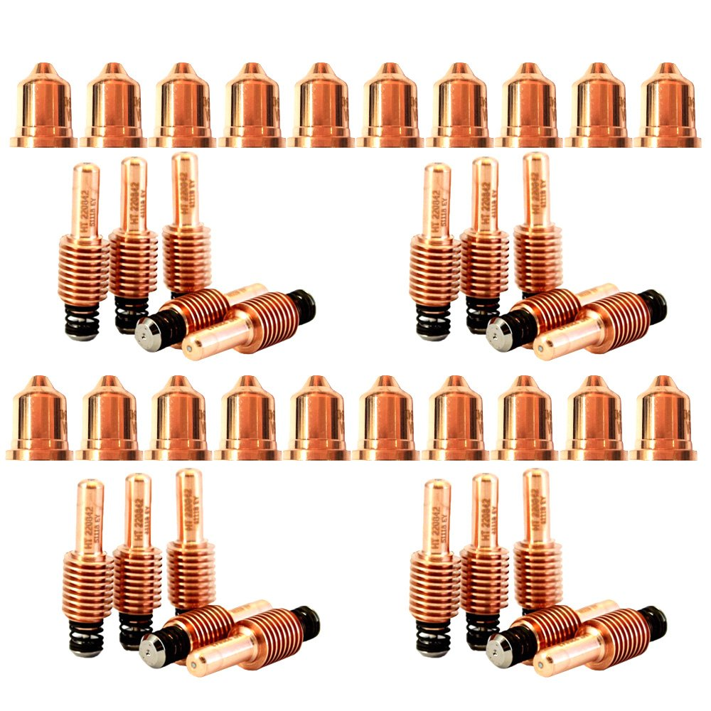 Jack&Dave 20PCS 220941 Plasma Tips 20PCS 220842 Plasma Electrode Fit Hypertherm Powermax 65/85/105 by Jack&Dave