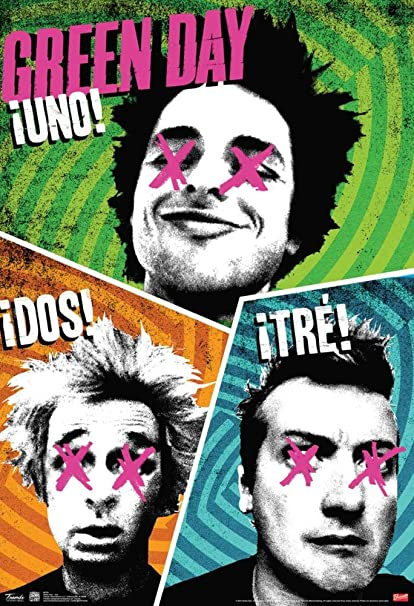 Image result for uno dos tre green day