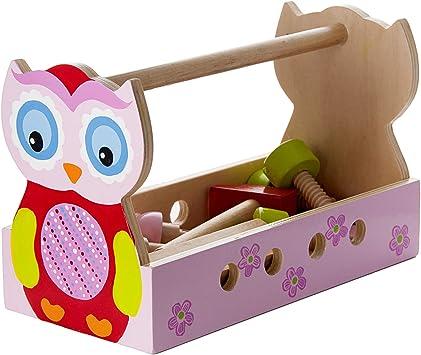 Mousehouse Gifts Juguete de Madera de Caja de Herramientas para ...