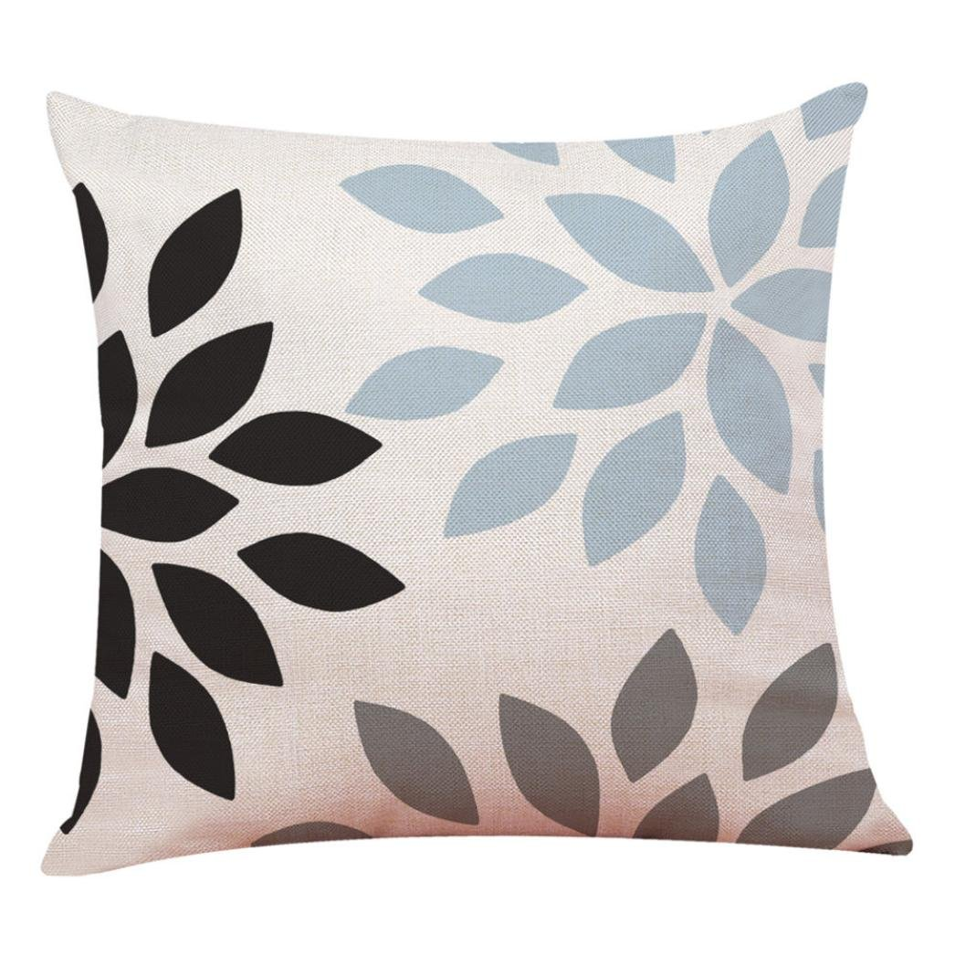 TiTCool Throw Pillow Cases 18x18 Modern Concise Style Homfy Decor Cushion Cover (G)