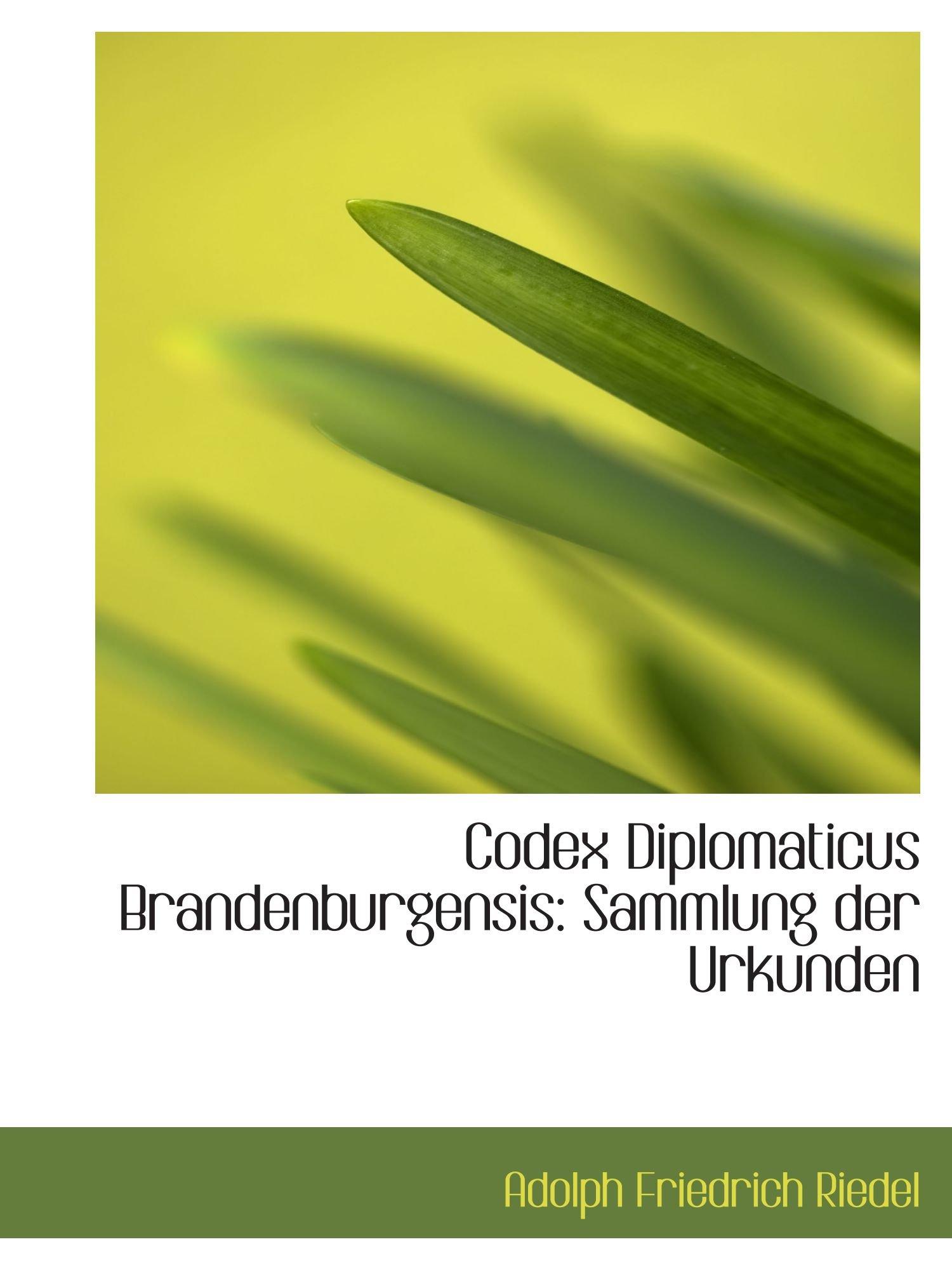 Read Online Codex Diplomaticus Brandenburgensis: Sammlung der Urkunden ebook