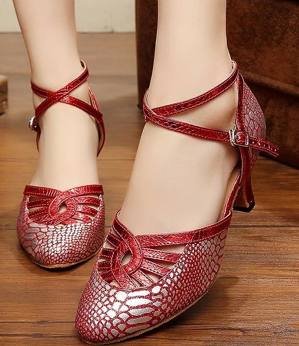 CFP - danza-ballo liscio donna , rosso (Red), 34