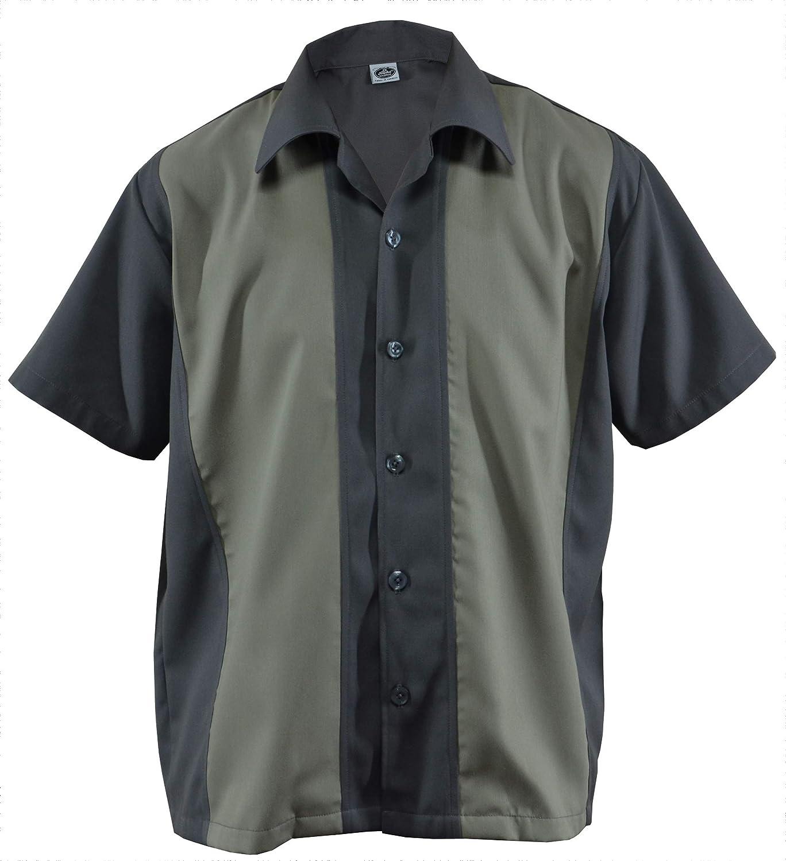 Camisa de cabina para hombre, estilo bowing, estilo rockabilly, dos tonos, Gabardine Lounge Fifties Vintage Retro Panel D800: Amazon.es: Ropa y accesorios