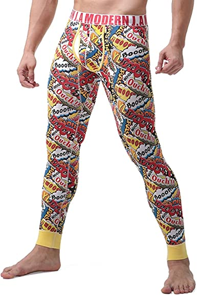 Hombre Algodón Térmico Ropa Interior Invierno Cálido Pantalones ...