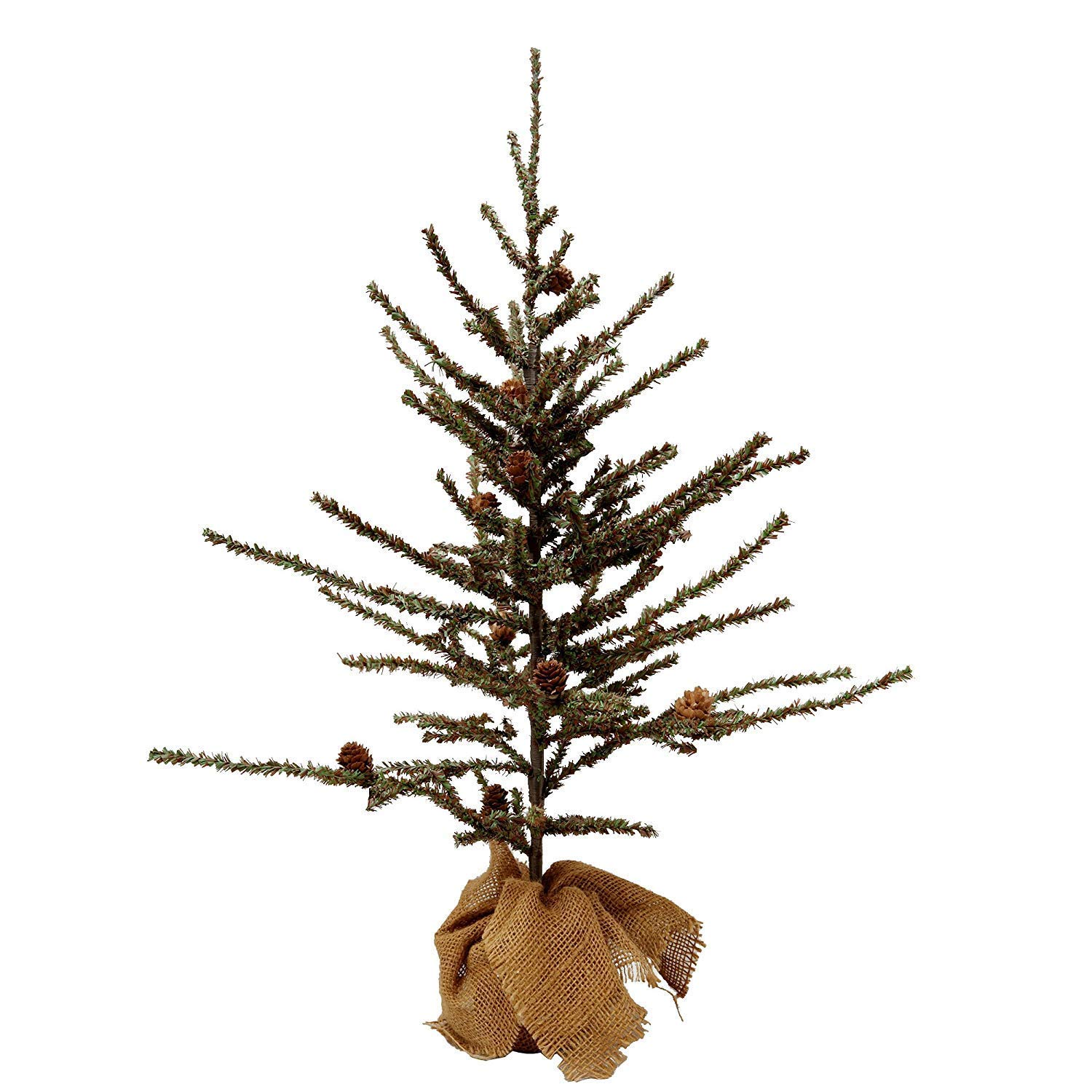 VGIA Small Home Decoration Tabletop 28'' Christmas Tree with Wood Stand, Green by VGIA (Image #2)