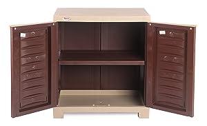 Supreme Fusion 01 Small Cupboard, Globus Brown and Beige