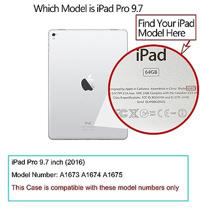 iHarbort® iPad Pro 9.7 Funda - ultra delgado ligero Funda de piel de cuerpo entero smart cover para Apple iPad Pro 9.7, con la función del sueño / despierta ...