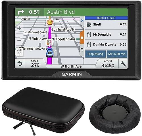 Drive 60LM GPS Navigator US – 010-01533-0C Mount and Case Bundle with GPS, Universal GPS Navigation Dash-Mount and PocketPro XL Hardshell Case Bundle