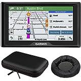 Drive 60LM GPS Navigator (US) - 010-01533-0C Mount and Case Bundle with GPS, Universal GPS Navigation Dash-Mount and PocketPro XL Hardshell Case Bundle