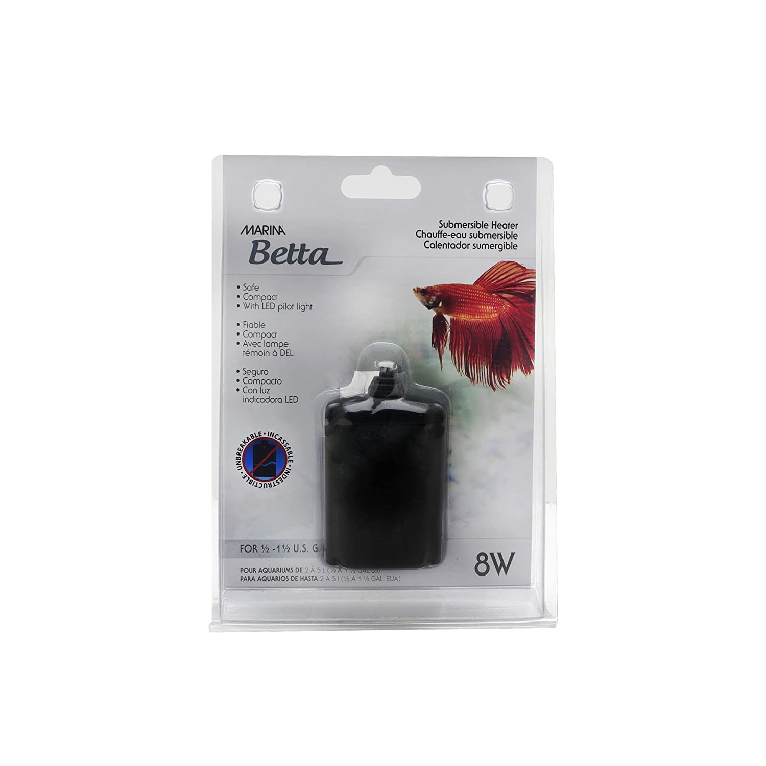 Marina Betta Submersible Heater for Aquarium 11182