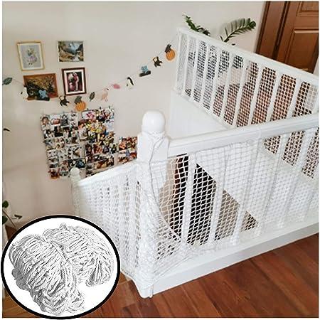Red de cuerda blanca Escalera balcón neto Red de seguridad para gatos Red de decoración Valla