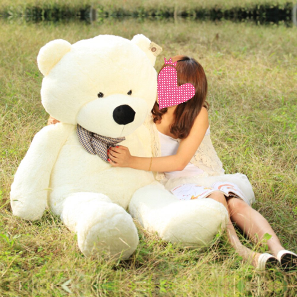 VERCART 6.5 Foot 79 inch White Color Giant Huge Cuddly Stuffed Animals Plush Teddy Bear Toy Doll by VERCART