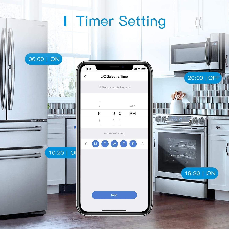 Alexa Google Home et SmartThings Biplite Intelligent Compatible avec Apple HomeKit Prise Connect/ée HomeKit Siri Double Prise Programmable WiFi avec Commande Vocale et Contr/ôle /à Distance EU