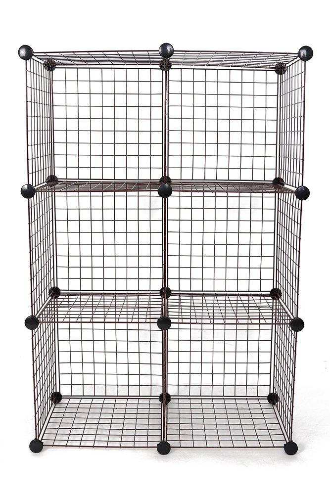 JS HANGER Wire Storage Cubes Set of 6 Clothes Organizer Eisho-GW01