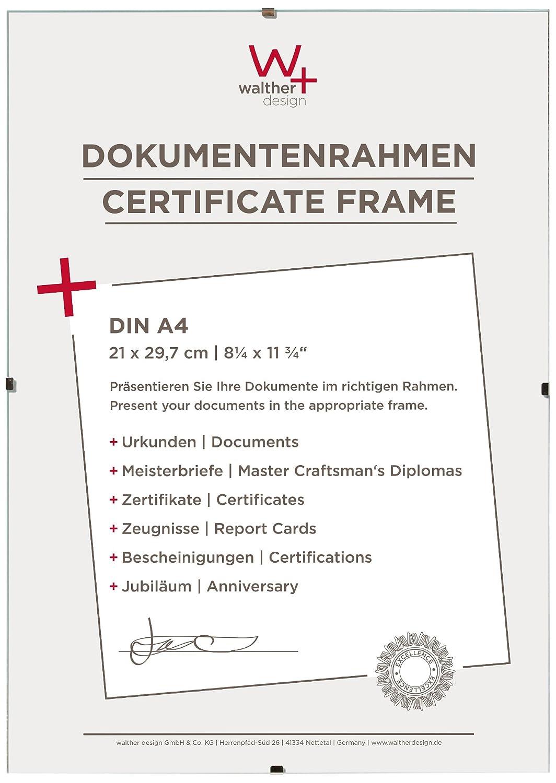 Amazon.de: Walther Design RB130K Rahmenlose Bilderrahmen, 21 x 29, 7 ...