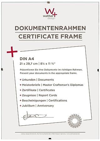 Walther Porta imágenes sin Marco Fotos, Vidrio Transparente, 21X29.7 Cm: Walther: Amazon.es: Hogar
