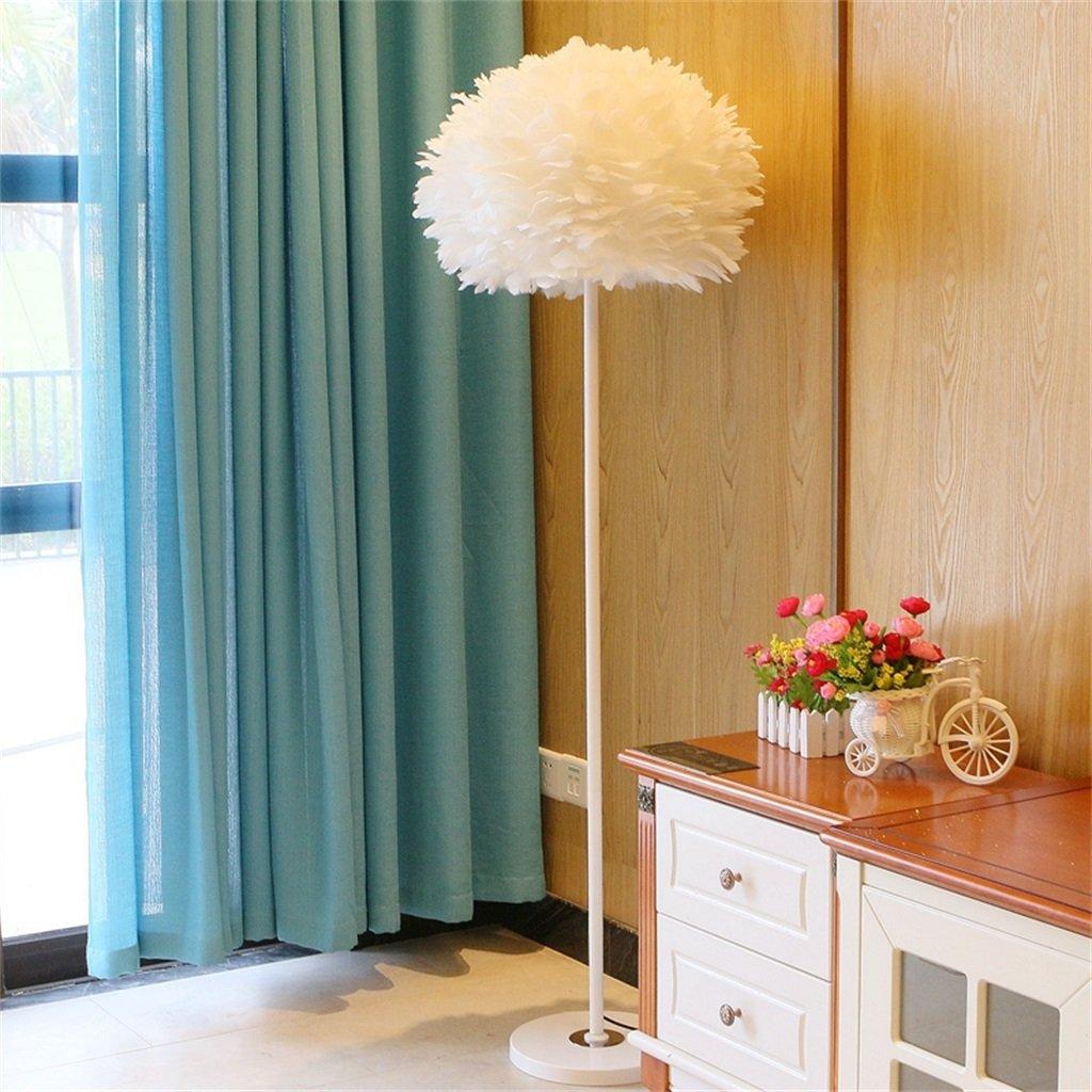 LightSei- Einfache und stilvolle gemütliche Wohnzimmer Schlafzimmer Vogel Nest schöne Feder Stehleuchte Nachttisch Lampe (Farbe   Weiß)
