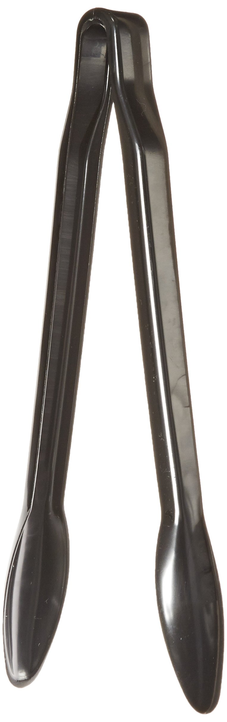 CaterLine 12-Inch Heavyweight Plastic Serving Tongs, Black (48-Count)