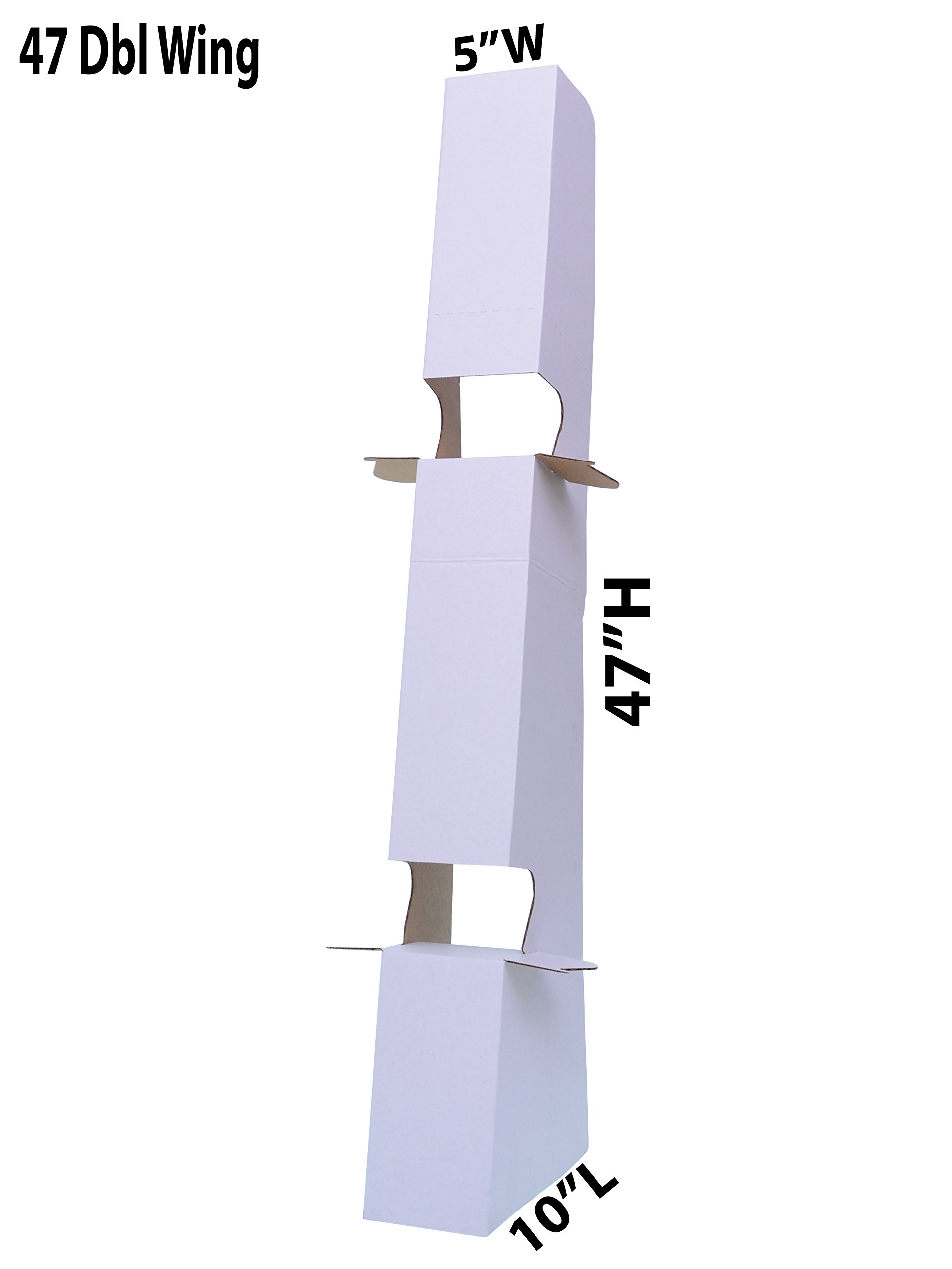 Marketing Holders 47 Inch Self-Stick White Easel Back, Heavy Duty - 2X Stronger, Supports Signs up to 96 High (Pack of 20)