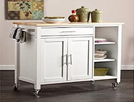 Medium image of oliver and smith   nashville collection   large mobile kitchen island cart on wheels   white