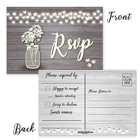 Amazon.com: 50 tarjetas postales RSVP en blanco, ideales ...