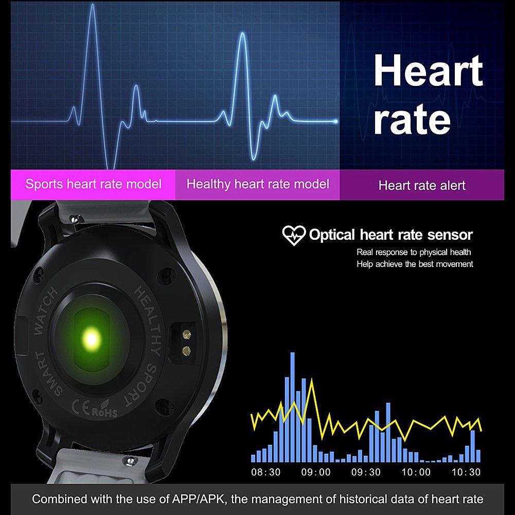 Bluetooth Smart reloj F69 IP68 Smart Fitness Tracker Monitor ...