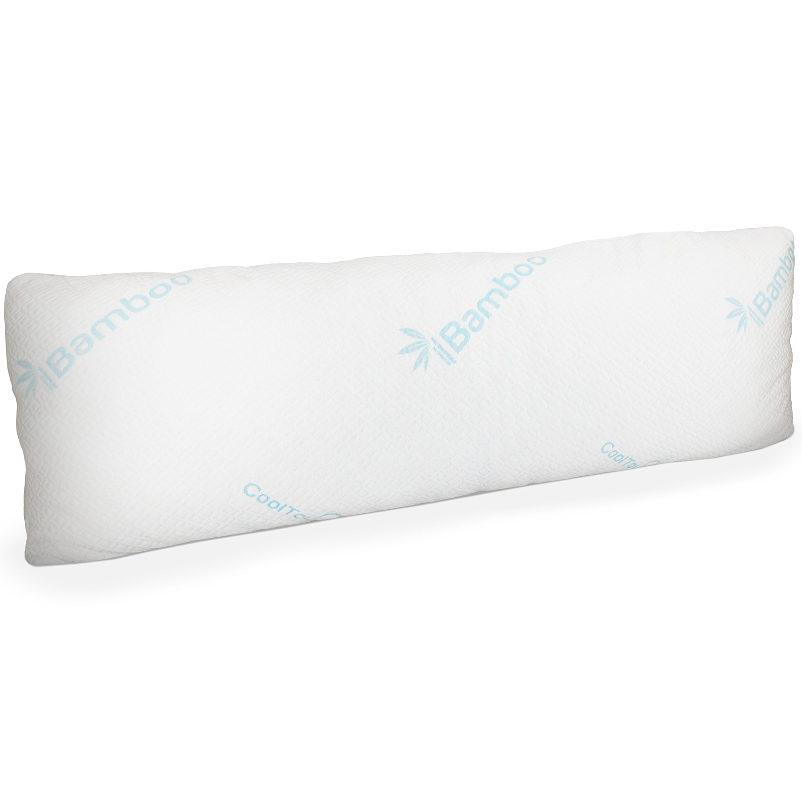 memory foam body pillow with bamboo cover large firm pillow for adults with 682318749422 ebay. Black Bedroom Furniture Sets. Home Design Ideas